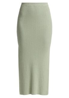 Ramy Brook Ribbed Midi Traci Skirt