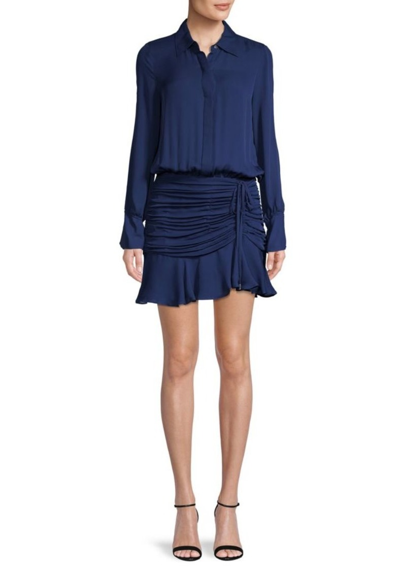 Ramy Brook Ruffled Silk Mini Dress