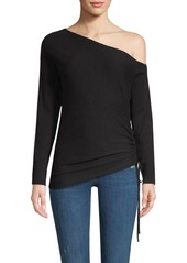 Ramy Brook Samantha One-Shoulder Silk & Merino Wool Sweater