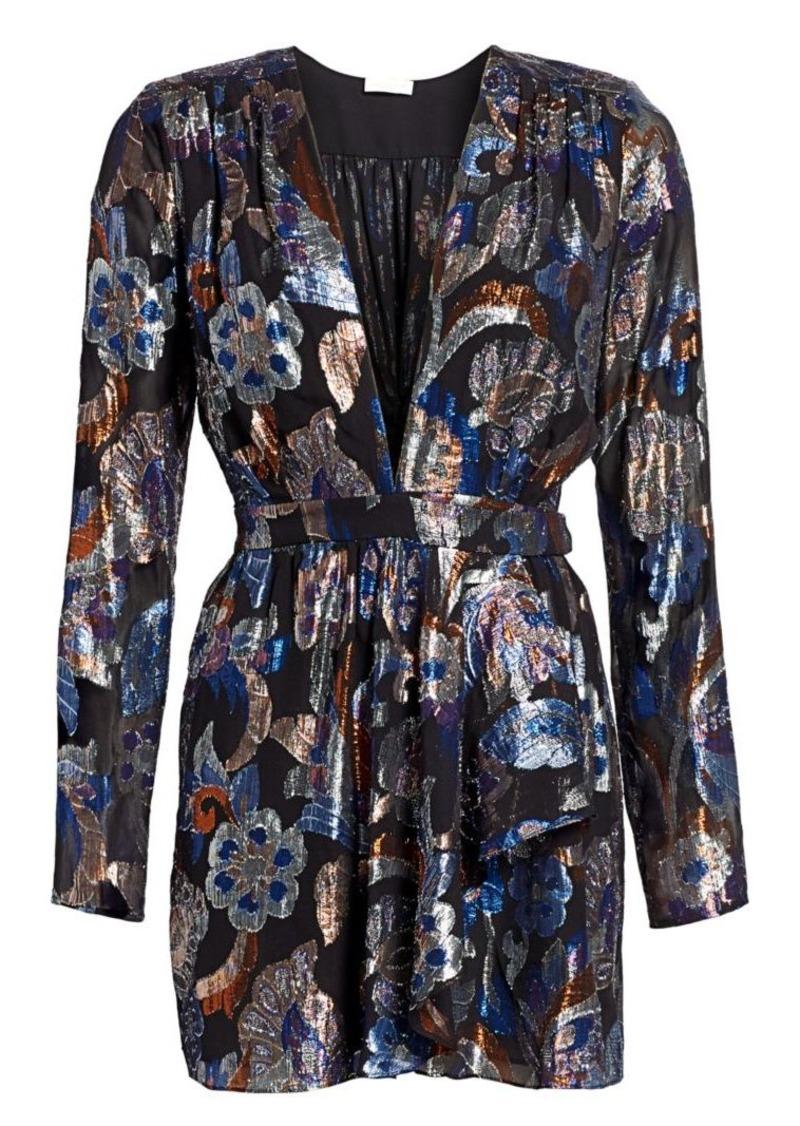 Ramy Brook Shaina Lurex Silk Jacquard Dress