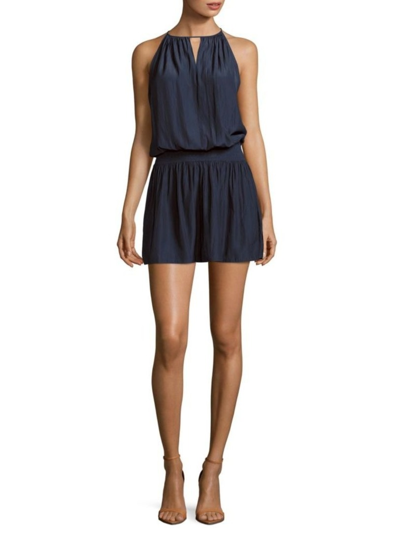 Ramy Brook Shelly Solid Crewneck Sleeveless Dress