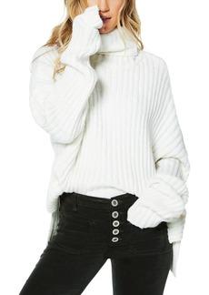 Ramy Brook Shirley Oversized Ribbed Turtleneck Sweater