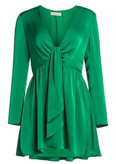 Ramy Brook Takos Tie Detail Mini Dress