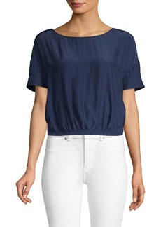 Ramy Brook Twisted-Back Cropped Top