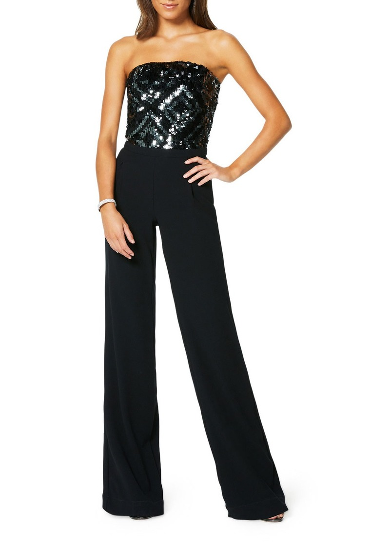 Ramy Brook Weston Strapless Sequined Jumpsuit