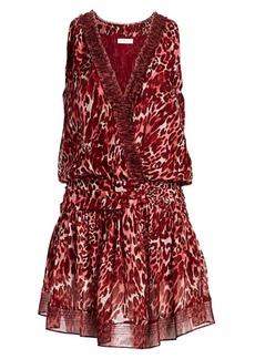 Ramy Brook Winsten Leopard-Print Silk Dress