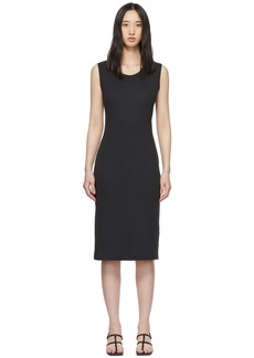 Raquel Allegra Black Rib Maxi Layering Dress
