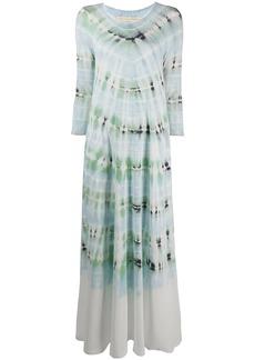 Raquel Allegra Drama tie-dye maxi dress