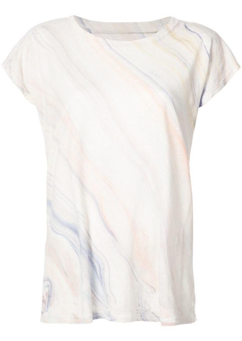 Raquel Allegra marble printed T-shirt