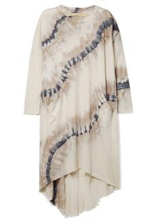 Raquel Allegra Oversized Tie-dyed Cotton-blend Jersey Dress