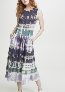 Raquel Allegra Big Sweep Tie Dye Dress