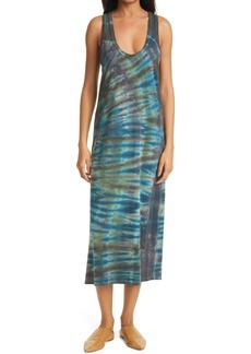 Raquel Allegra Tie Dye Midi Tank Dress