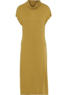 Raquel Allegra Woman Icon Jersey Midi Dress Sage Green