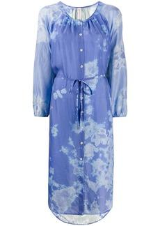 Raquel Allegra silk abstract print dress