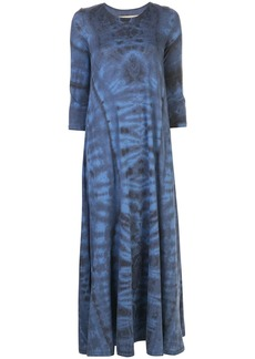 Raquel Allegra tie-dye flared maxi dress