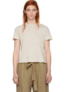 Raquel Allegra White Sueded Baby Jersey T-Shirt