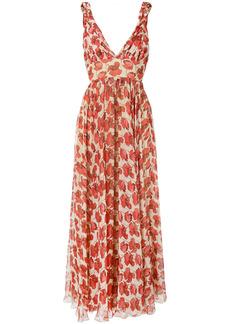Raquel Diniz Julie poppy-print silk dress