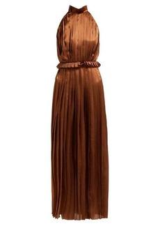 Raquel Diniz Aiko polka-dot silk-satin dress