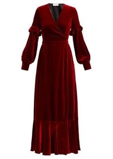 Raquel Diniz Aurora silk-velvet wrap dress