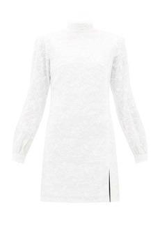 Raquel Diniz Elle foliage-embroidered linen-blend mini dress