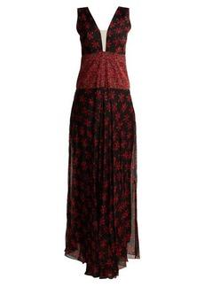 Raquel Diniz Gabrielle floral-print sleeveless gown