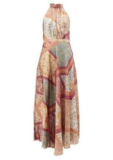 Raquel Diniz Giovanna floral-print silk satin dress