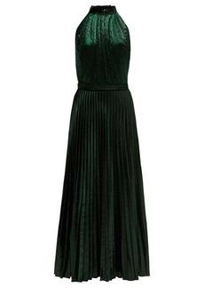 Raquel Diniz Giovanna halter-neck velvet dress