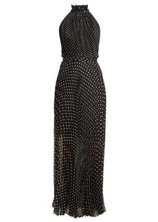 Raquel Diniz Giovanna pleated polka-dot silk dress
