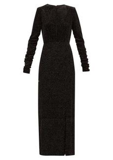 Raquel Diniz Lucy Starry Sky glitter polka-dot velvet dress