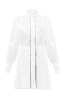 Raquel Diniz Marella hemstitched linen mini dress