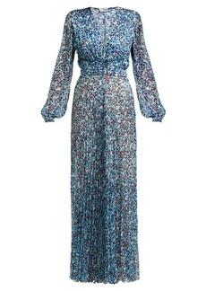 Raquel Diniz Olivia leopard-print silk-georgette dress