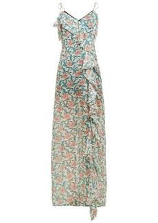 Raquel Diniz Stella ruffle floral-print silk maxi dress