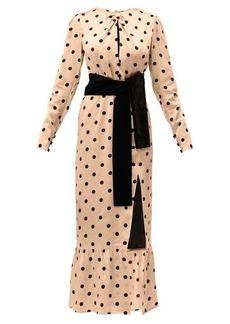 Raquel Diniz Teresa polka dot-print silk dress