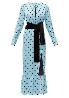 Raquel Diniz Teresa polka-dot silk-satin dress