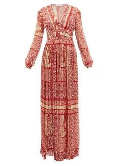 Raquel Diniz Valentina paisley-print silk-georgette dress