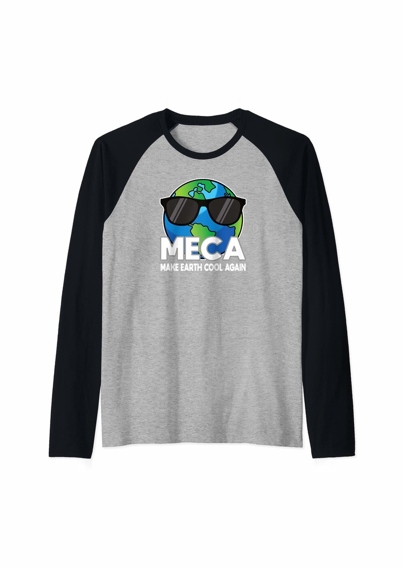Raven Clothing Make Earth Cool Again Climate Change Global Warming Raglan Baseball Tee