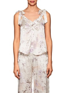 Raven Clothing Raven & Sparrow by Stephanie Seymour Women's Caroline Floral Silk Charmeuse Camisole
