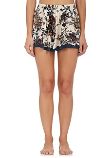 Raven Clothing Raven & Sparrow by Stephanie Seymour Women's Emily Silk Pajama Shorts