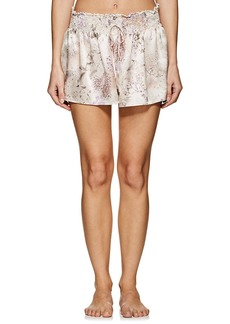 Raven Clothing Raven & Sparrow by Stephanie Seymour Women's Holly Silk Charmeuse Pajama Shorts
