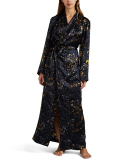 Raven Clothing Raven & Sparrow by Stephanie Seymour Women's Jean Floral Silk Robe