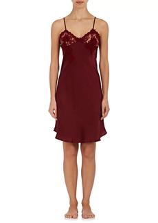 Raven Clothing Raven & Sparrow by Stephanie Seymour Women's Lily Lace-Trimmed Silk Chemise