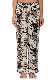 Raven Clothing Raven & Sparrow by Stephanie Seymour Women's Pamela Silk Pajama Pants