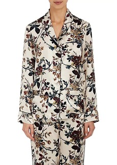 Raven Clothing Raven & Sparrow by Stephanie Seymour Women's Pamela Silk Pajama Top
