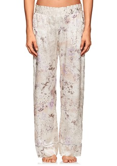 Raven Clothing Raven & Sparrow by Stephanie Seymour Women's Penelope Floral Silk Charmeuse Pajama Pants
