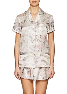 Raven Clothing Raven & Sparrow by Stephanie Seymour Women's Penelope Floral Silk Charmeuse Pajama Top