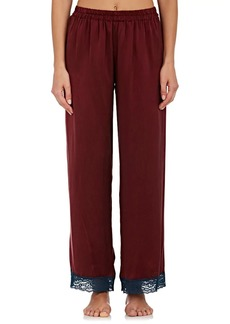 Raven Clothing Raven & Sparrow by Stephanie Seymour Women's Penny Lace-Trimmed Silk Pajama Pants