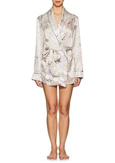 Raven Clothing Raven & Sparrow by Stephanie Seymour Women's Rita Floral Silk Charmeuse Robe