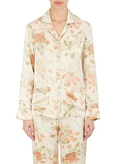 Raven Clothing Raven & Sparrow by Stephanie Seymour Women's Tulip-Print Silk Pajama Top