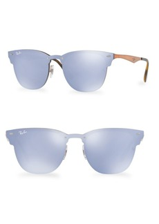 Ray-Ban 47MM Blaze Mirrored Clubmaster Sunglasses