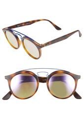 Ray-Ban Highstreet Gatsby 49mm Round Sunglasses